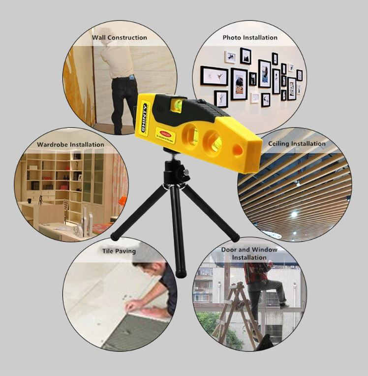 Cross Line Laser Level Line Marker Line Measuring Tool With Stand