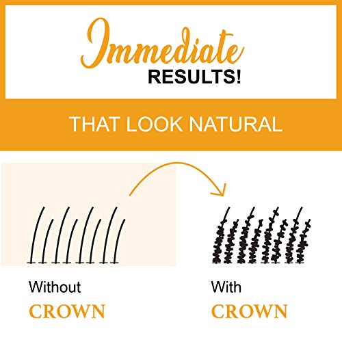 CROWN HAIR FIBERS for Thinning Hair (MEDIUM BROWN) - Instantly Thickens Thinni