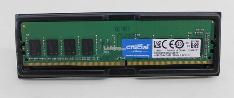 Crucial 4GB DDR4-2400 UDIMM Desktop Memory RAM (NEW)