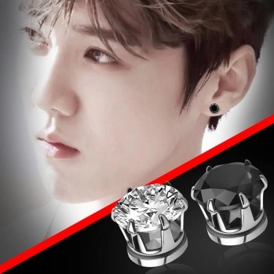 Crystal Cubic Magnet Earrings Uni Mens Earring Jewelry