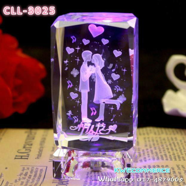 Crystal LED Lamp Birthday Couple Valentine Graduation Gift CLL 3025