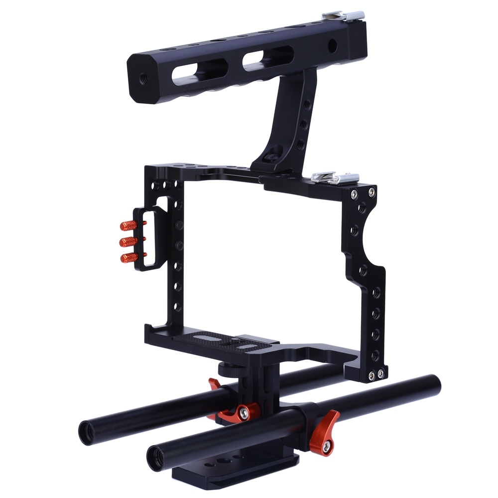 CS - V5 STANDARD 15MM ROD VIDEO STABILIZER ALUMINUM CAMERA CAGE RIG FO..
