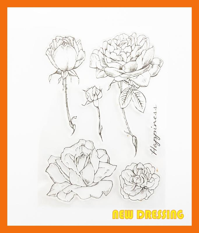 CS157 - Happiness and Flowers Clear Stamp