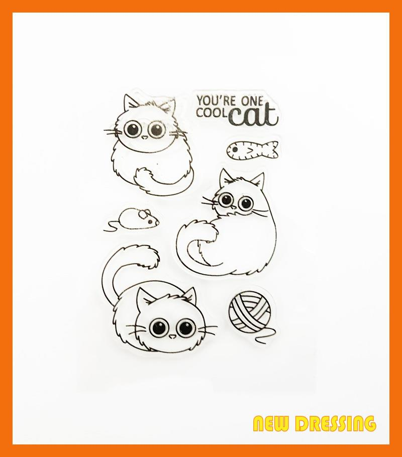 CS187 - You Are Cool Cat Clear Stamp