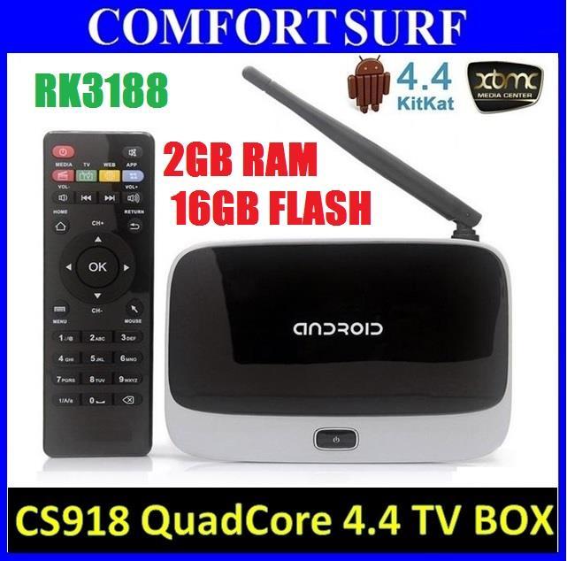 CS918 Android 4 RAM 2GB 16GB Smart TV Box WIFI XBMC Kodi Media Player