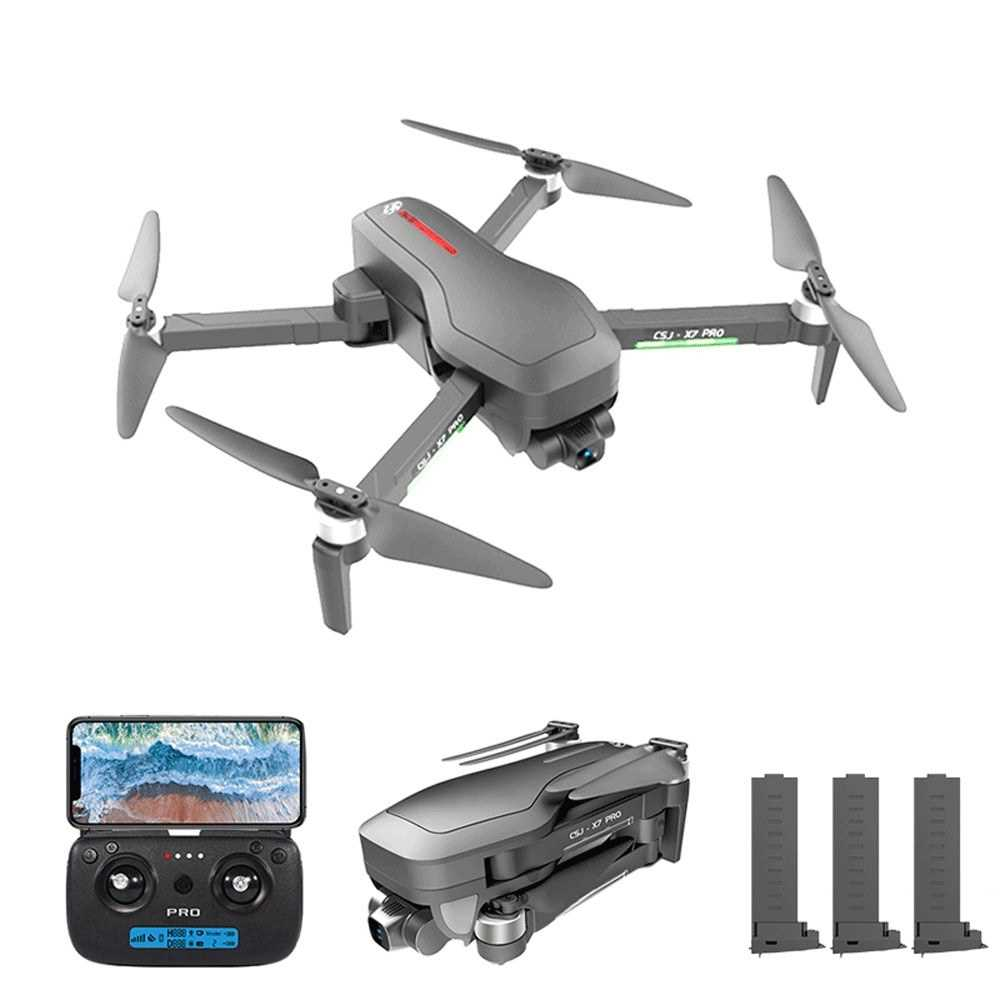 CSJ X7 PRO GPS RC Drone with Camera 4K 5G Wifi 2-axis Gimbal Brushless Quadcop