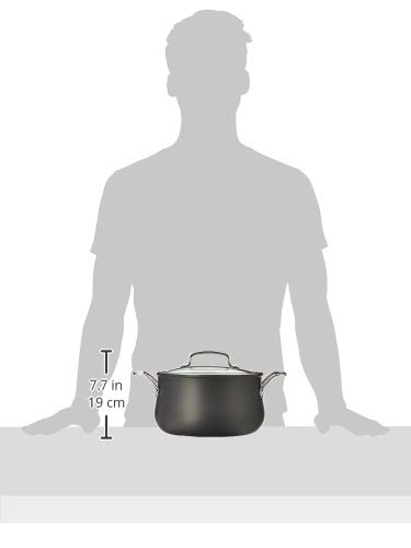 ~ Cuisinart 6445-22 Contour Hard Anodized 5-Quart Dutch Oven with Cover,Black
