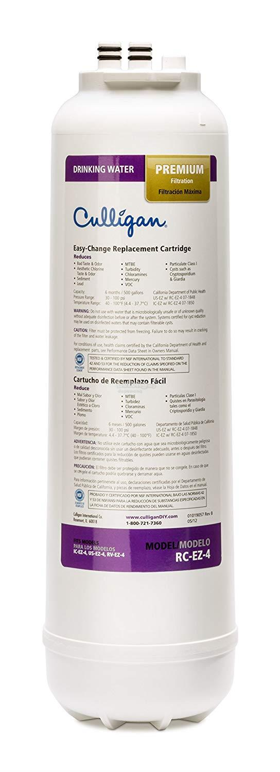 Culligan RC 4 EZ-Change Premium Water Filtration Replacement Cartridge