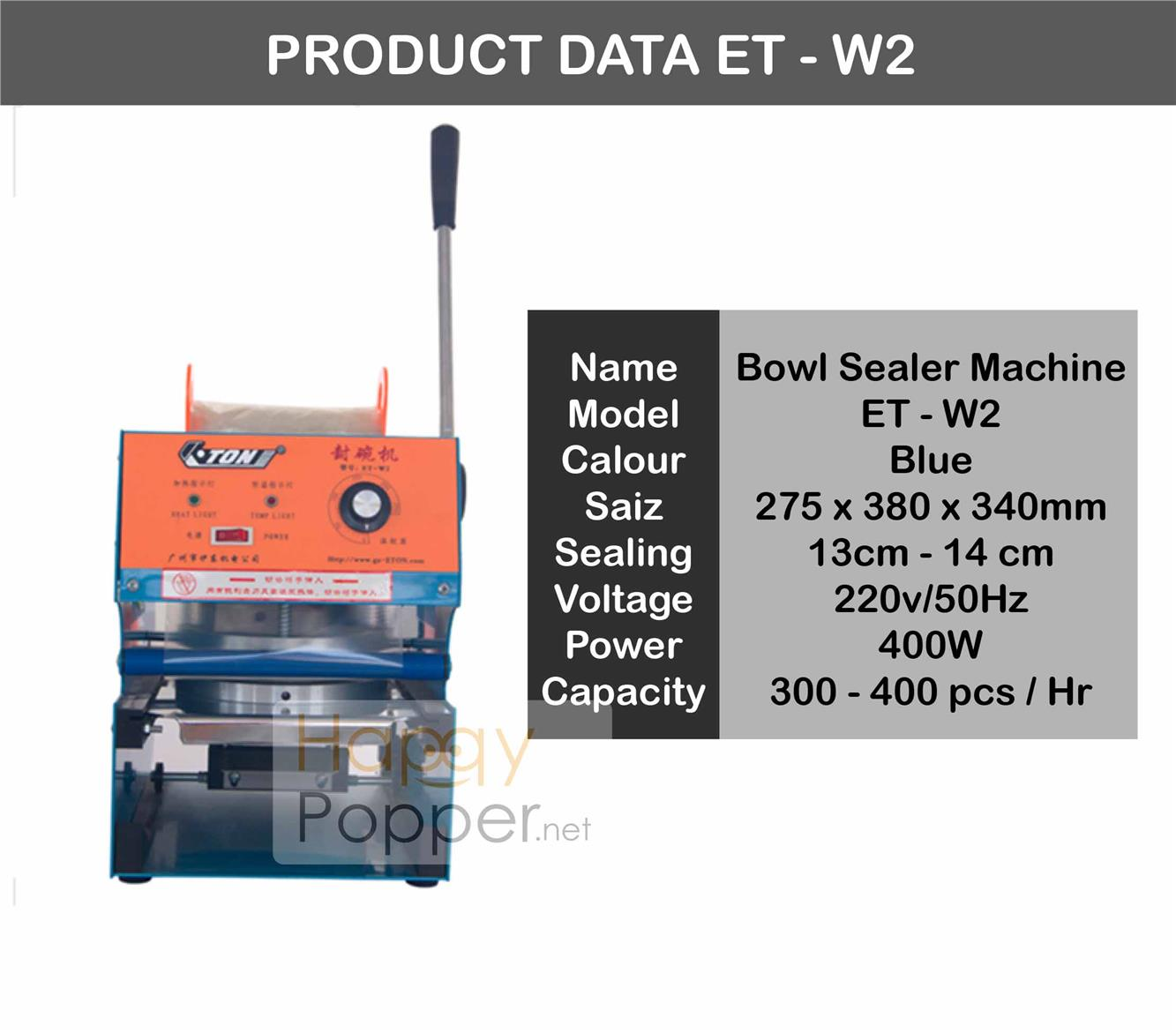Cup bowl semi auto sealer machine
