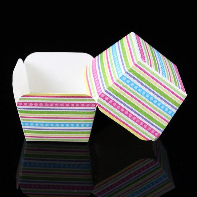 Cupcake Muffin Baking Square Paper Cup (Colourful) - 50pcs