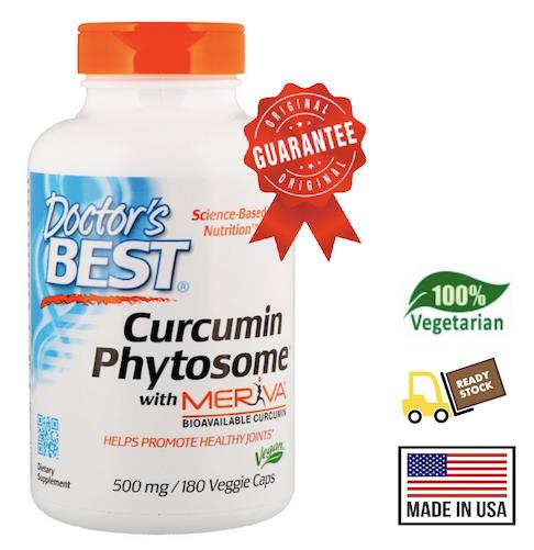Curcumin Phytosome with Meriva 500mg, 180 Vcaps (Joints, Cholesterol)