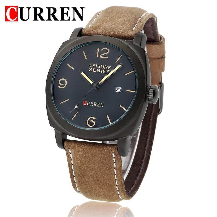 Curren leather Watch with Working Date, Good Quality, calender