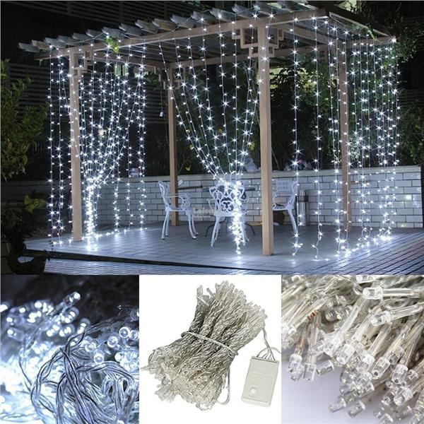 Curtain String Lights, 3MX3M 304 LEDs Party Decorate Flashing Lights