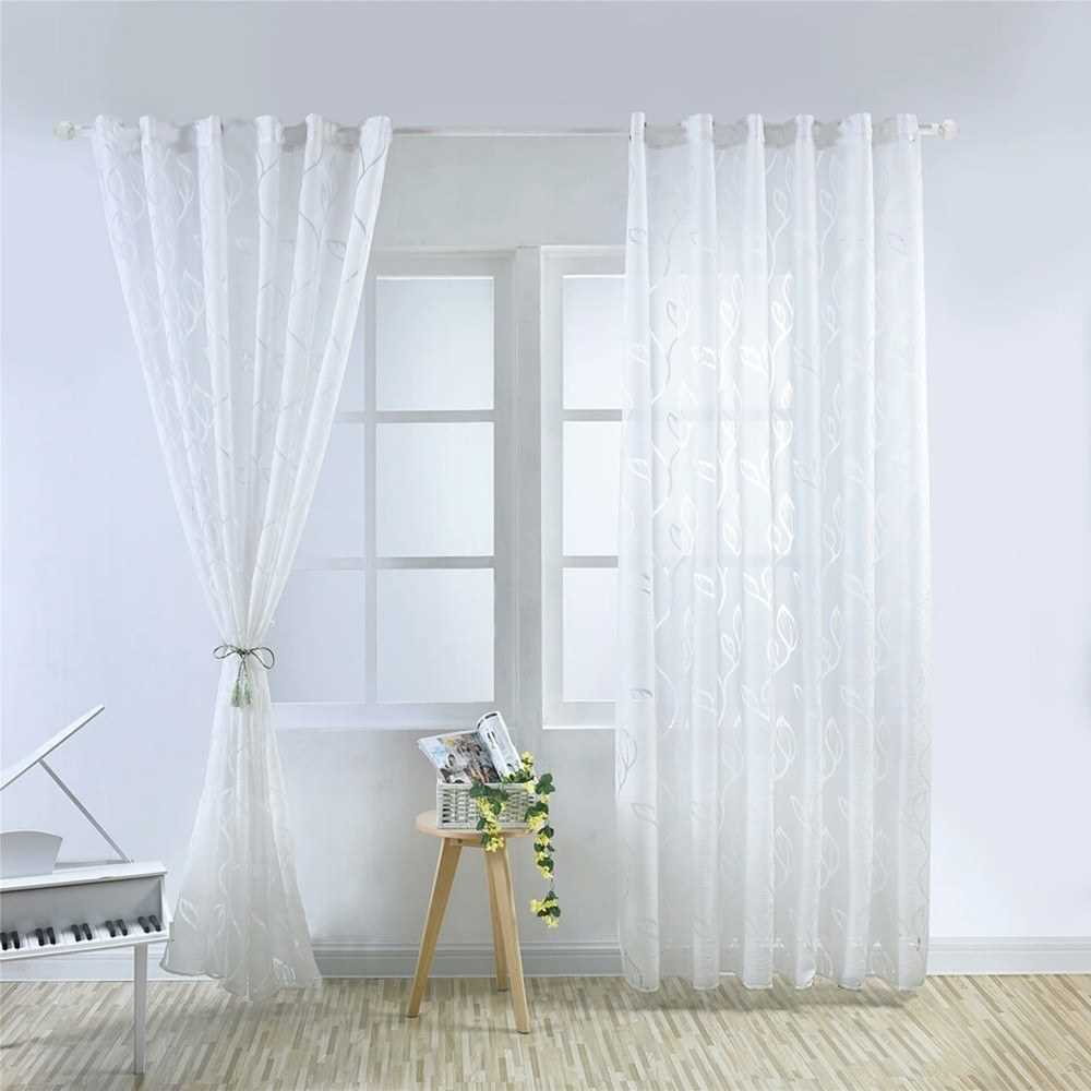 Curtains Semi-shading Sliding Patio Door Curtain for Living Room