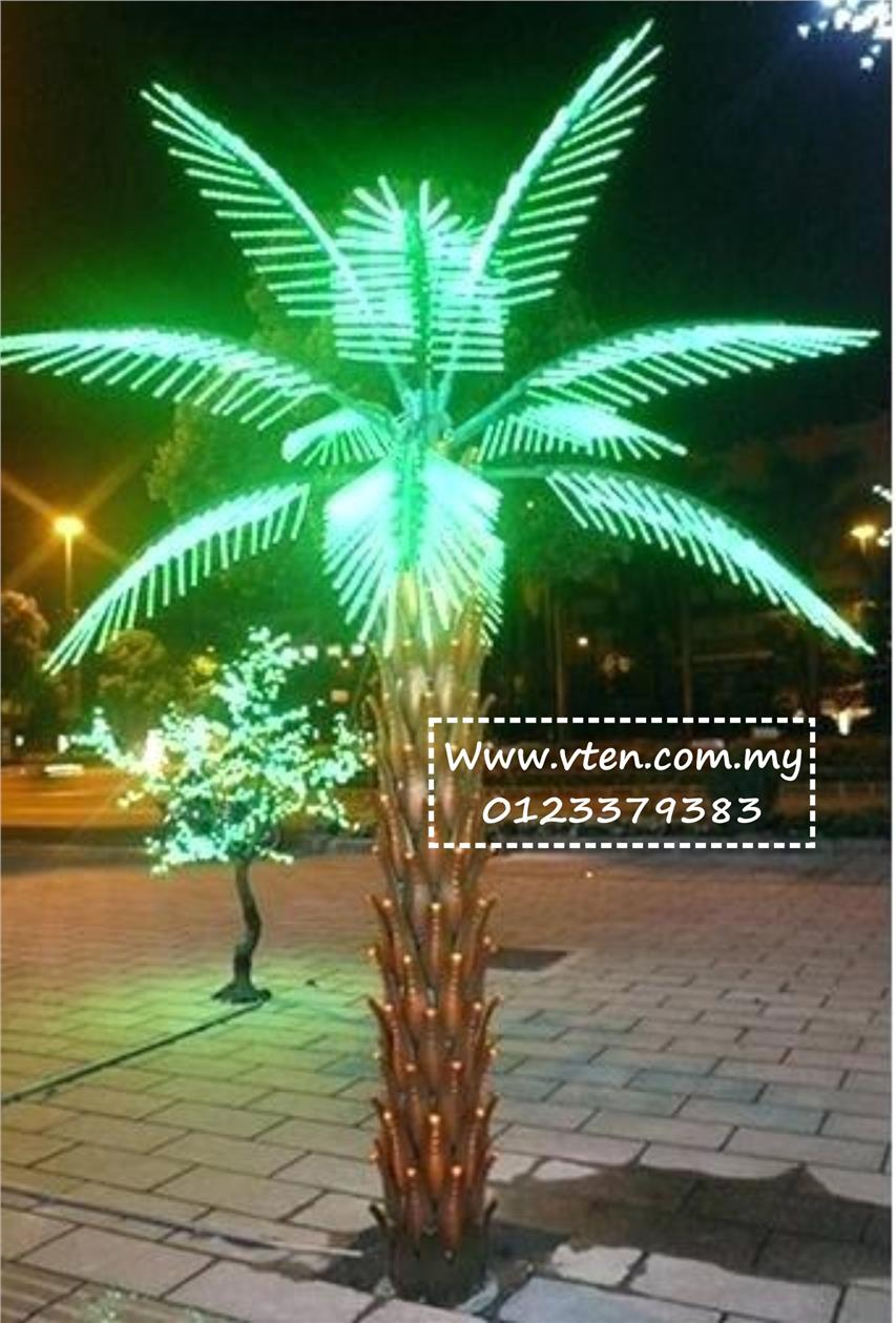 Custom Made Artificial Palm Tree Led Light Outdoor Decoration