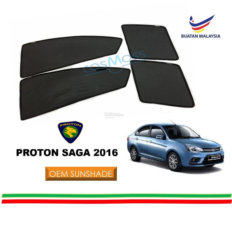 Custom Fit OEM Sunshades/ Sun shades for Proton Saga 2016 (4PCS)
