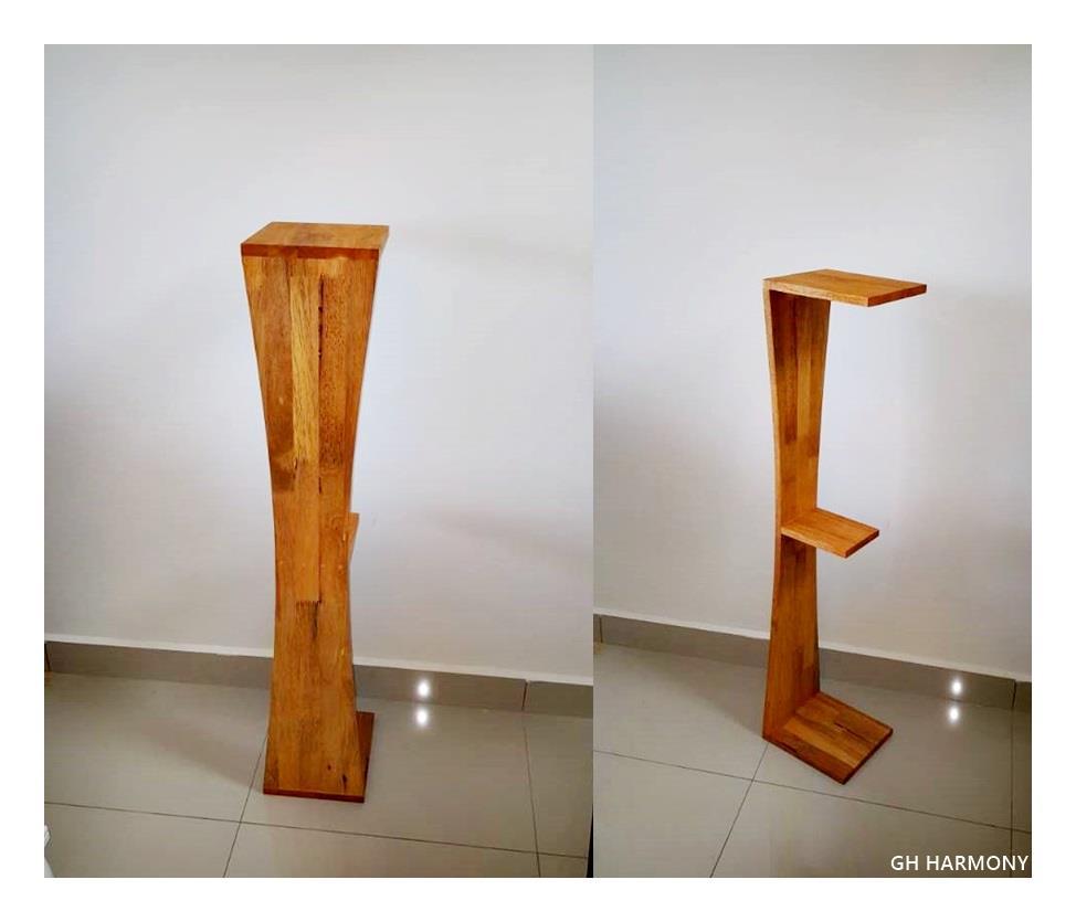 Custom Hand Made Solid Rubber Wood Speaker Stand For Bookshelf