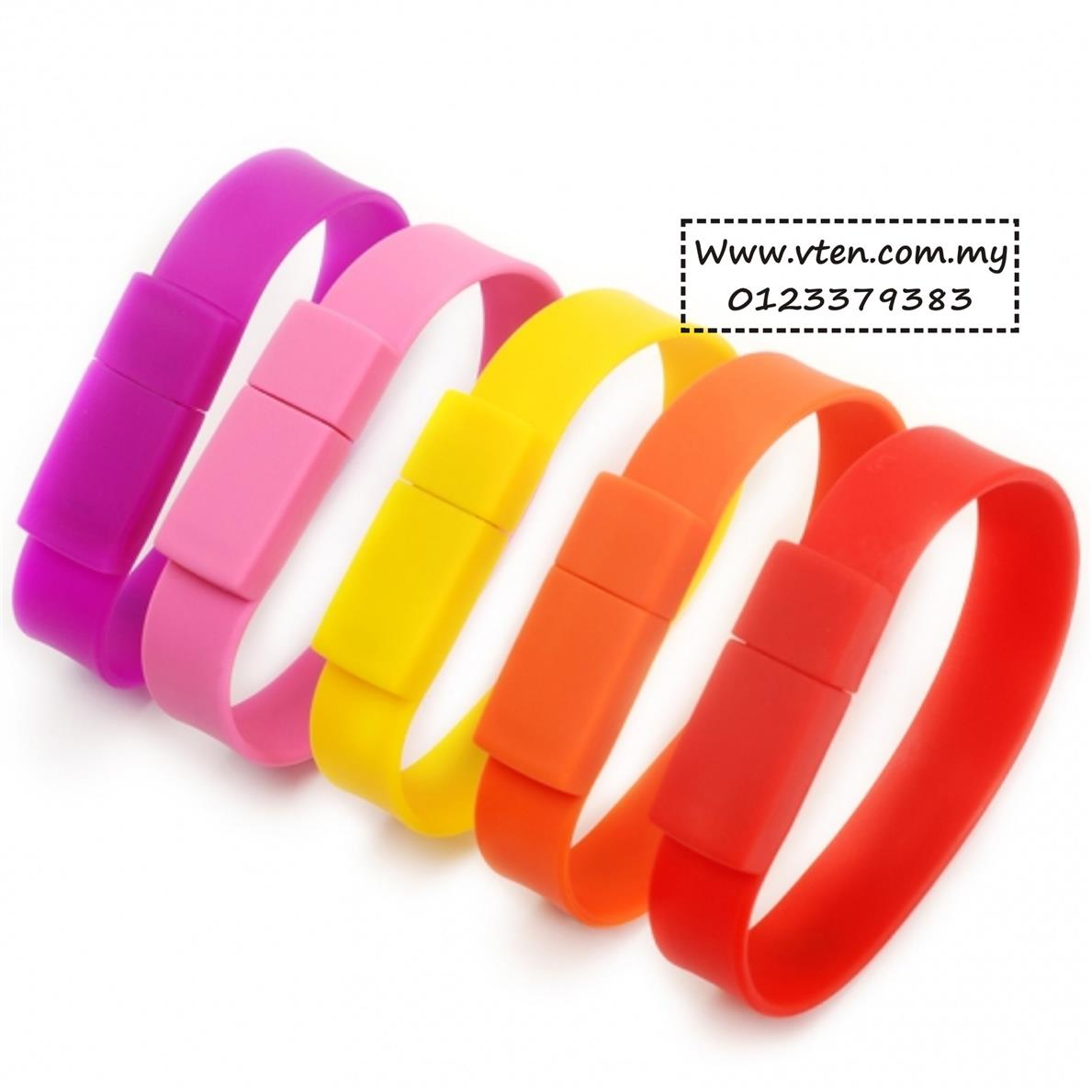 Custom Made Wristband Silicone Bracelet Pendrive Thumbdrive Pre Order