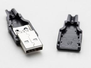 Customized Pin USB A Male Solder Connector
