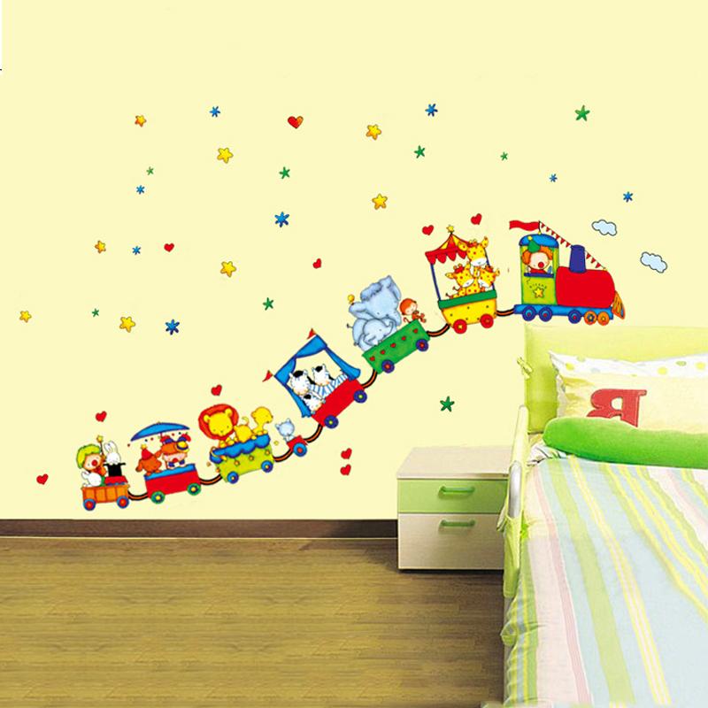 Train Wall Sticker For Kids Room Home Decor Nursery