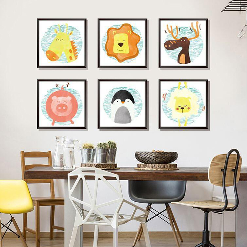 Cute Animal Wall Stickers Home Decor