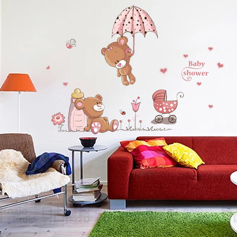 cute bears wall sticker for kids roo (end 3/28/2019 6:39 am)