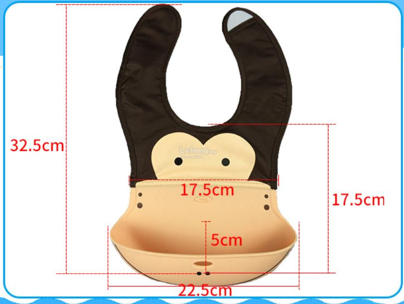 Cute Cartoon Baby Bib Pocket Bib