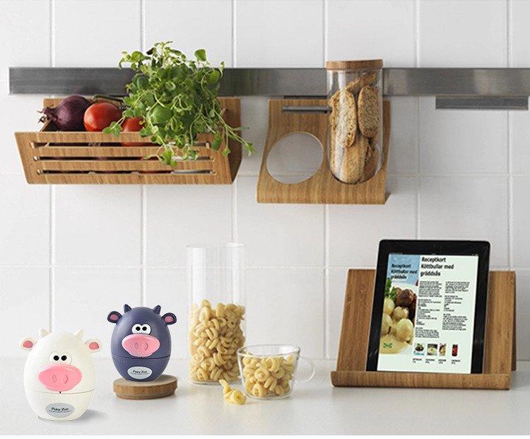 Cute Cartoon Cows Bear Kitchen Timer Mechanical Alarm Clock Without Ba