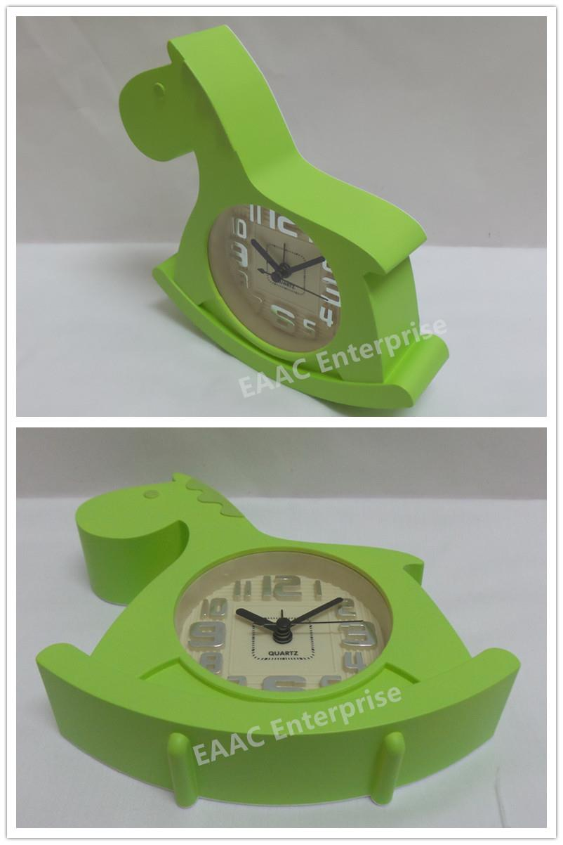 Cute Cartoon Green Horse Alarm Clock for Kids