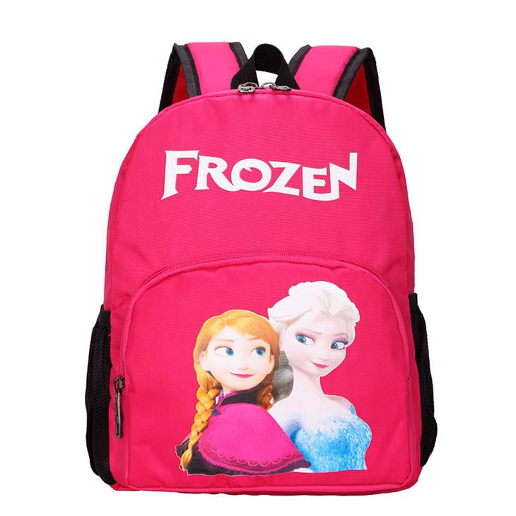 Cute Cartoon Kids' Backpack (Frozen Rose Red)