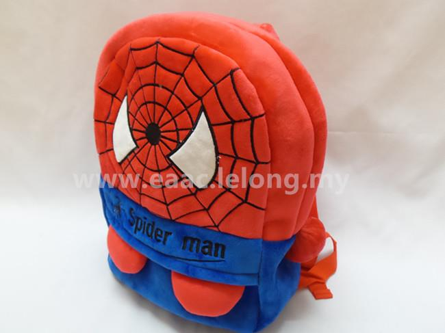 Cute Cartoon Spiderman Kid Backpack School Shopping Shoulder Bag (L)