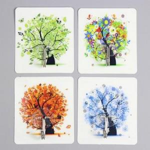 Cute Cartoon Strong Stickness Hook 4pcs (Tree)