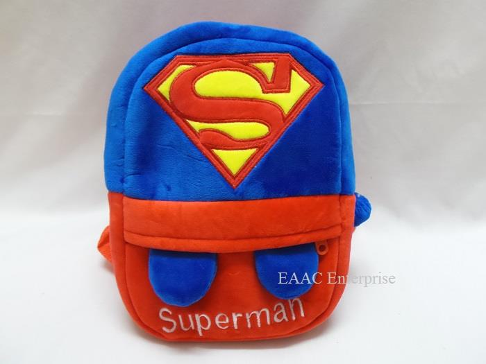 27fb9f5fa2 Cute Cartoon Super Man Kid Backpack Bag School Tuition Shopping Bag S. ‹ ›