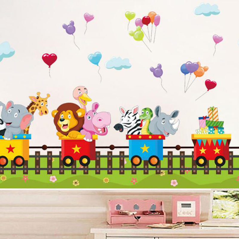 Cute Cartoon Train Wall Stickers For End 492019 239 Pm