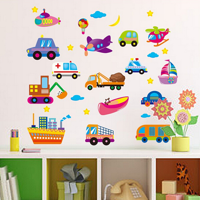 Cute Colorful Cars Wall Stickers For End 1182018 239 Am