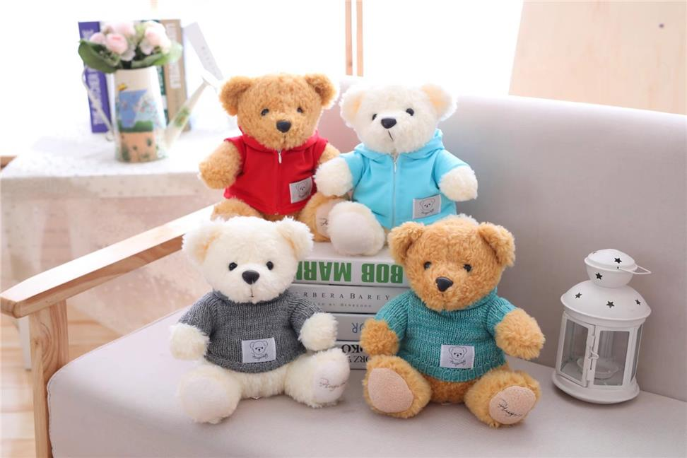 official images half price shop best sellers Cute Hugsbaby Trench Coat Sweater Teddy Bear Doll 25cm