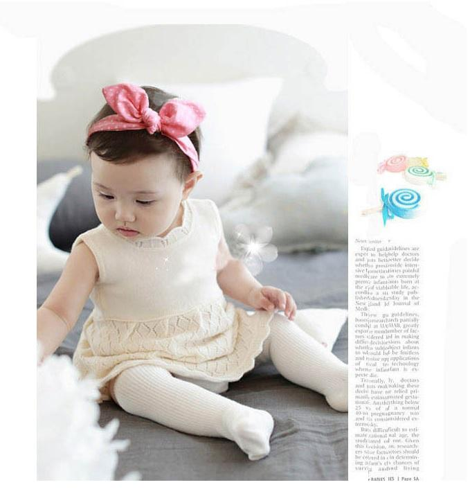 Cute Kids Baby Girls Headband Infant Bunny Ears Bowknot Hairband a59dcb8fb58