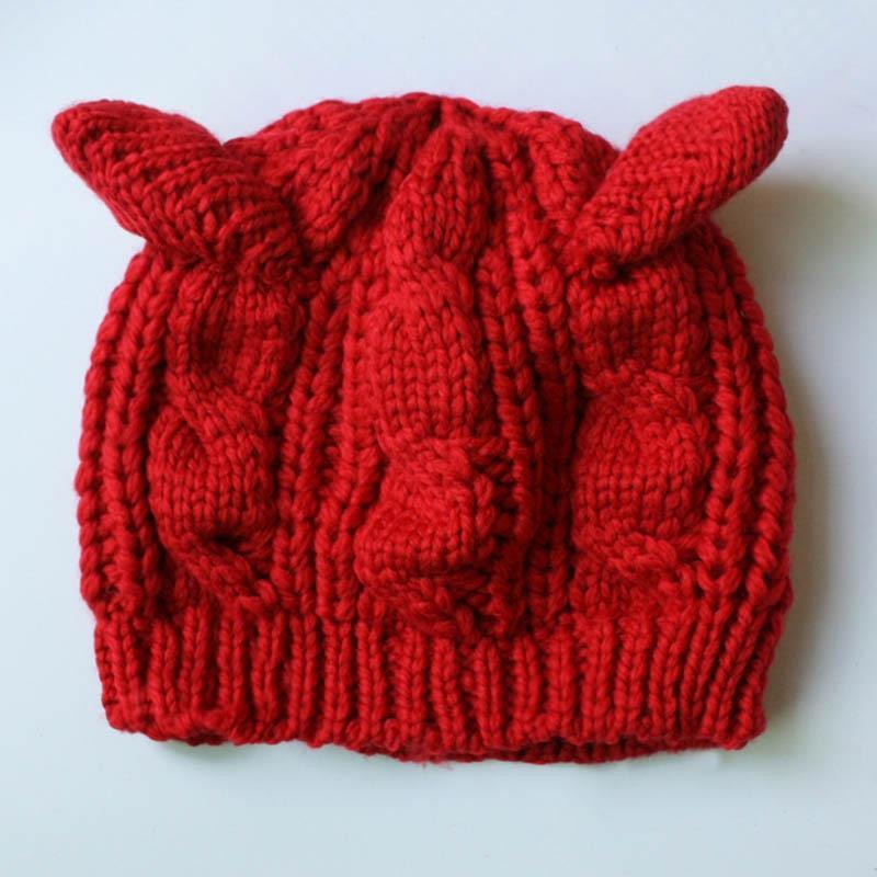 Cute Lady Girl Knitted Hat Fall Winter Warm Beanies Hats. ‹ › e4b4ff591cf