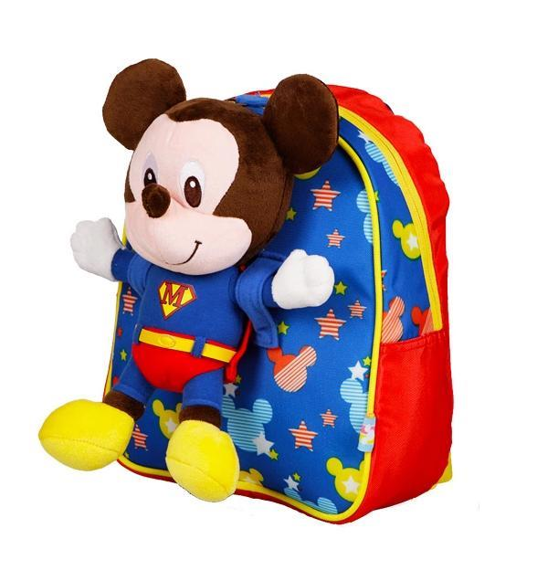 Cute Mickey removable soft toy kids backpack - B151102