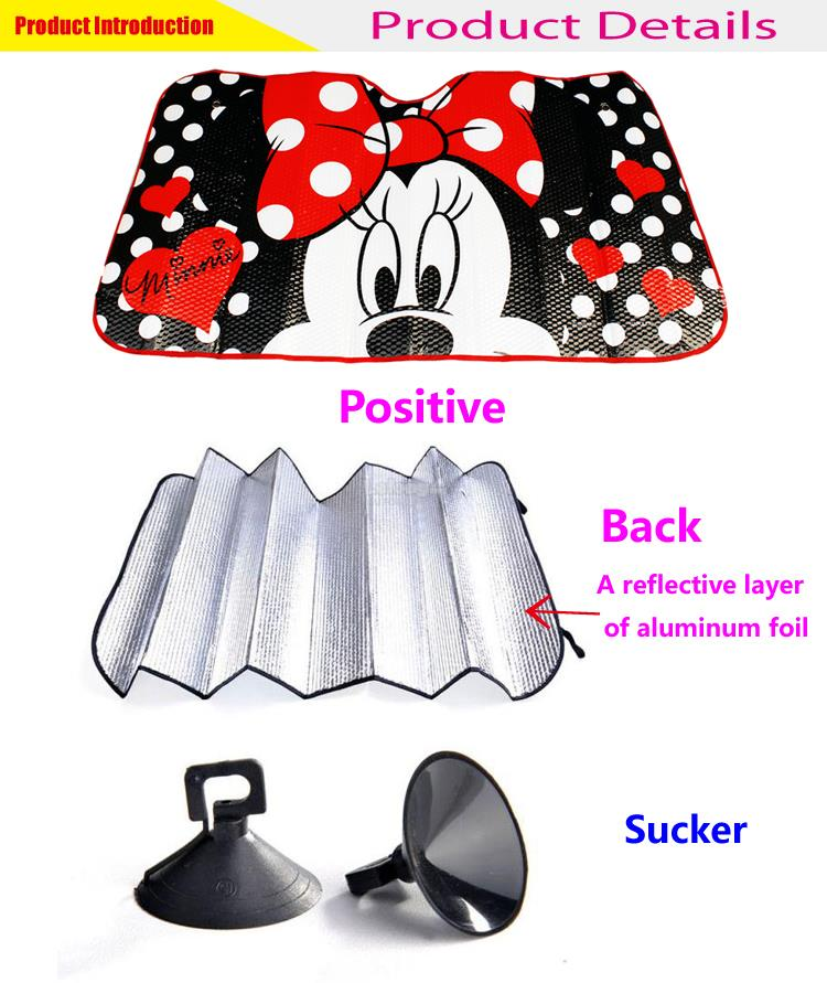 Cute Minnie Cartoon Window Sunshade Cover Sun Shade Protection WN-13
