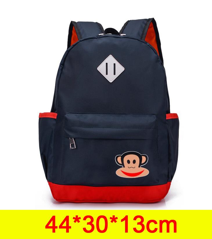 Cute Monkey Backpack (Dark Blue)