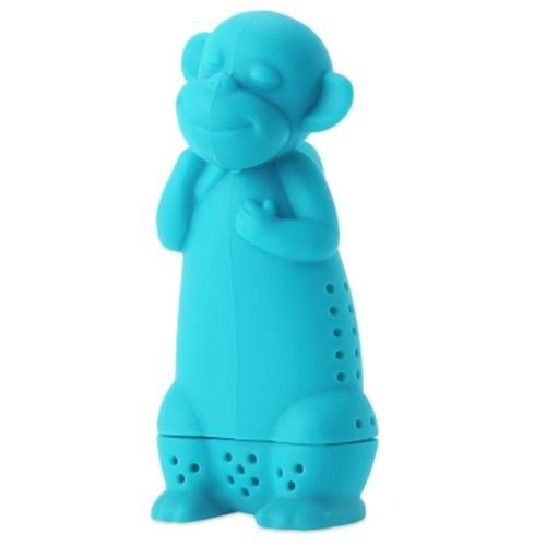 cute novelty silicone monkey shape mesh tea infuser reusable strainer