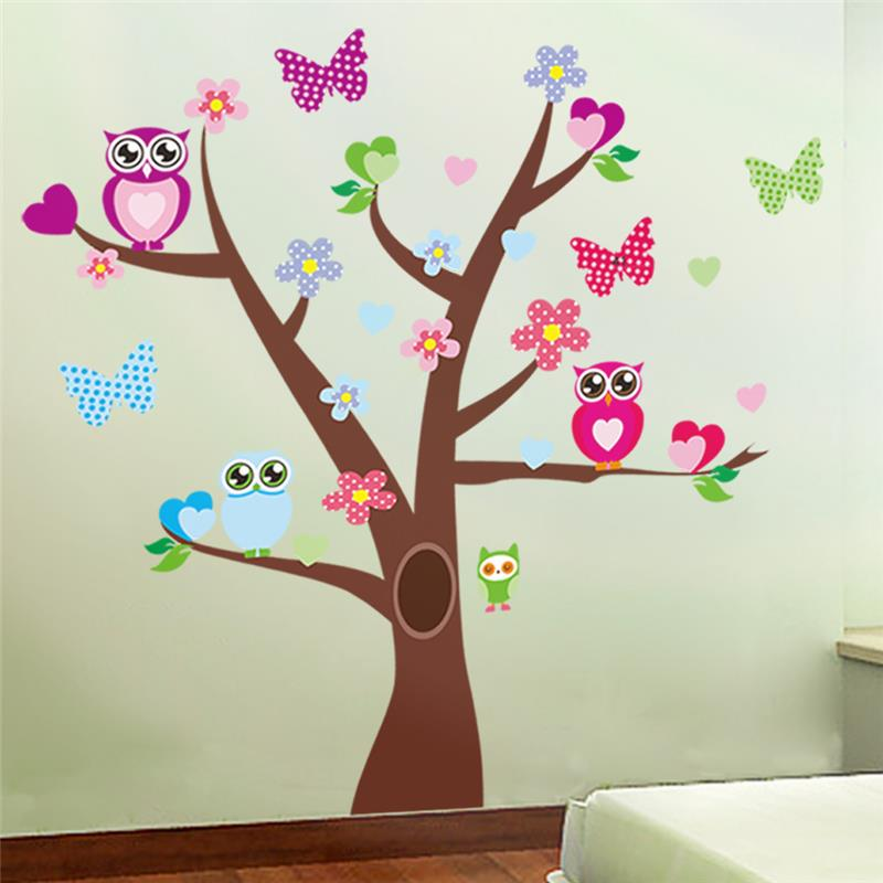 Cute Owls Tree Wall Stickers For Kid End 1 14 2020 8 36 Pm
