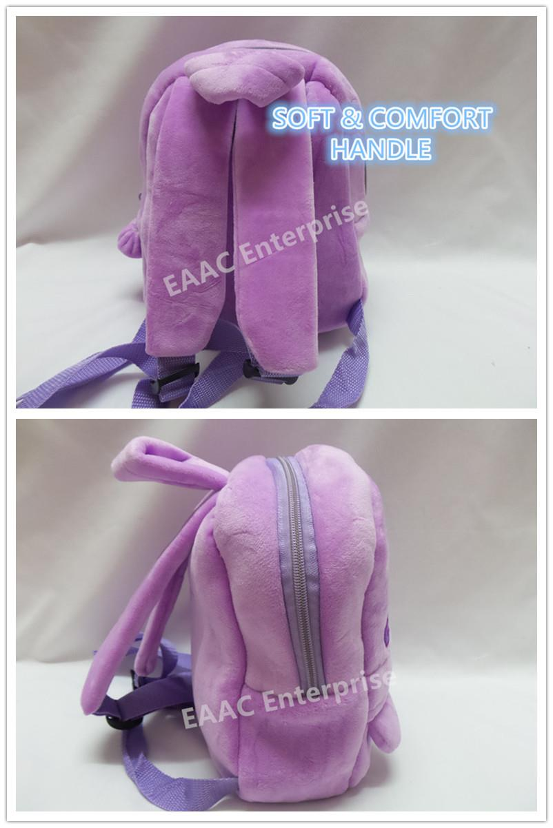 Cute Pony Purple Kids Kindergarten Backpack School Shoulder Bag S