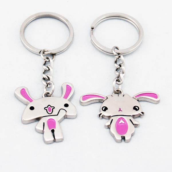 Cute Rabbits Bunnies Lover Couple Key Chain Keychain K92
