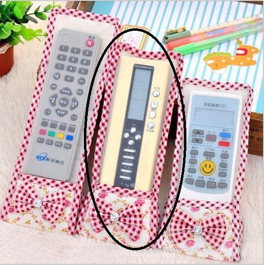 Cute Ribbon Lace Fabric Remote Control Cover (M)