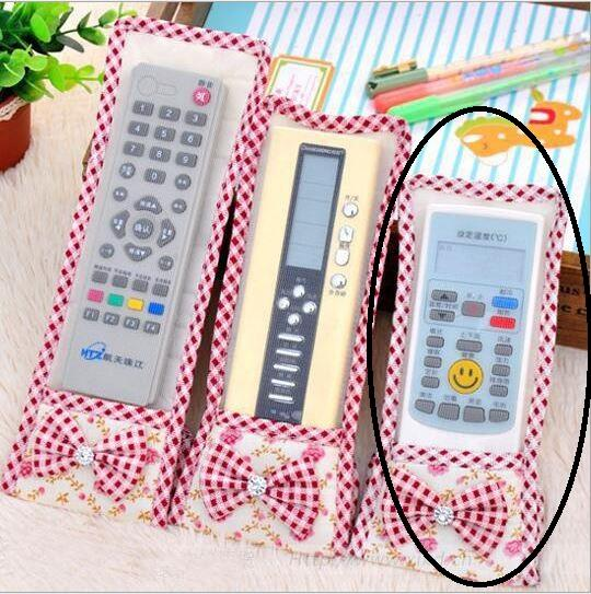 Cute Ribbon Lace Fabric Remote Control Cover (S)