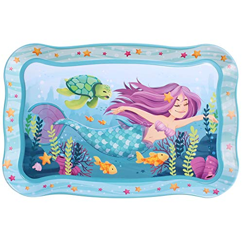 Cute Under the Sea Mermaid Pretend Tin Teapot Set for Tea Party and Kids Kitch