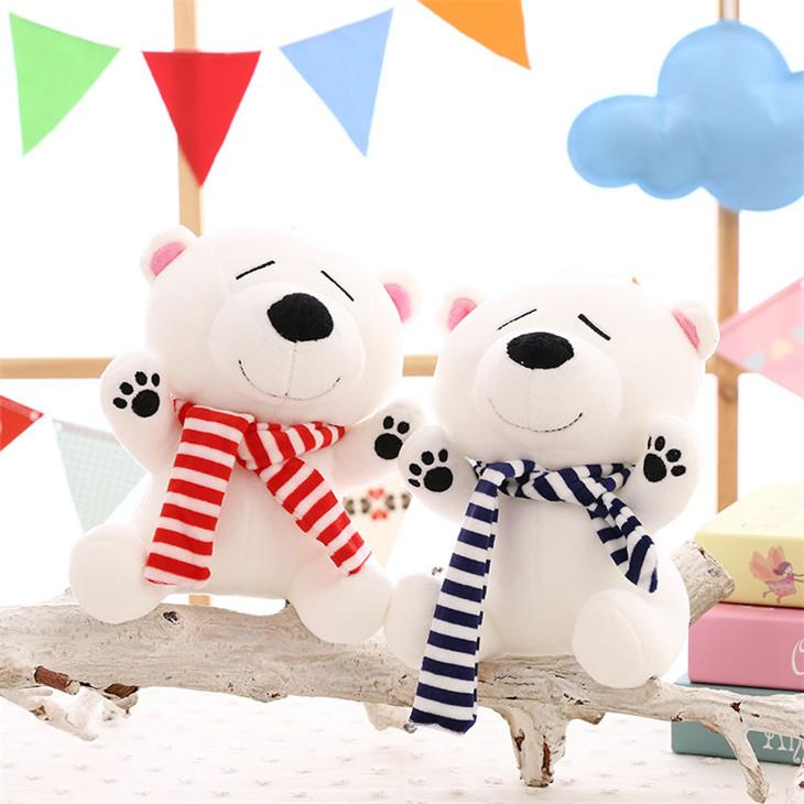 Cute White Bear Plush Toys (25cm)