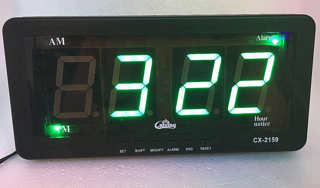 CX-2159 Digital Clock (Green)